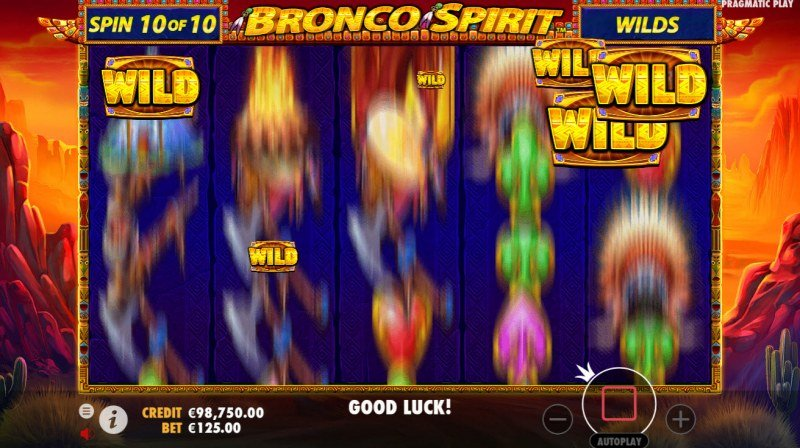 Bronco Spirit :: After 10 spins collected coins are added to reels as wild symbols
