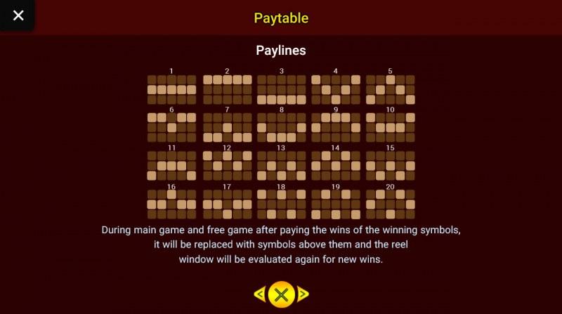 Brothers Kingdom :: Paylines 1-20