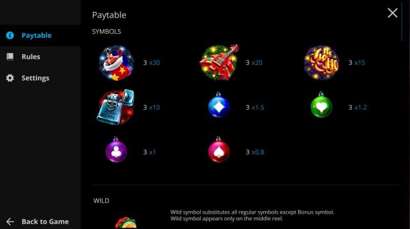 Brutal Santa :: Paytable