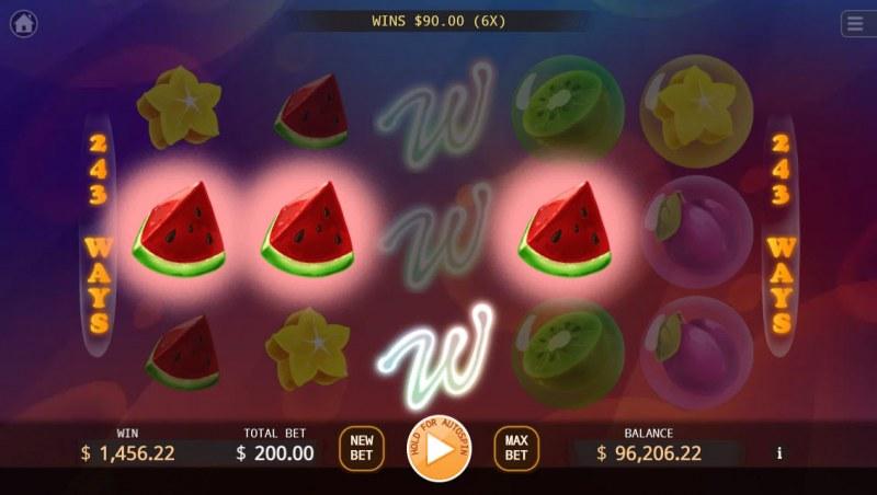 Bubble Double :: Multiple winning paylines