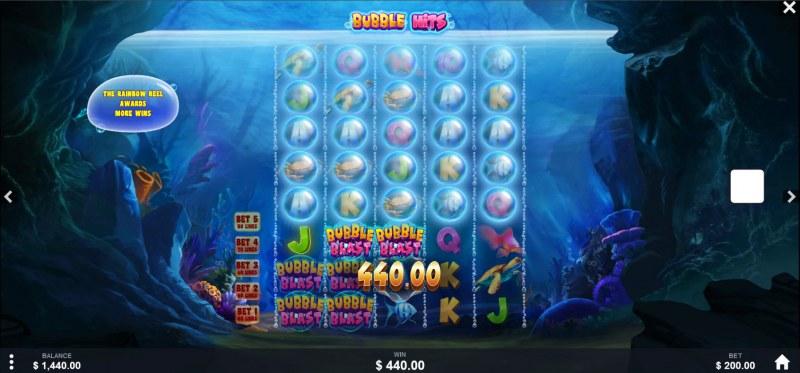 Bubble Hits :: Multiple winning paylines