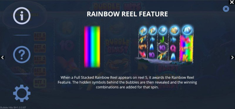Bubble Hits :: Rainbow Reel Feature