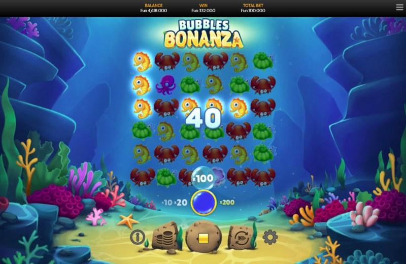 Bubbles Bonanza :: A X100 win multiplier awarded