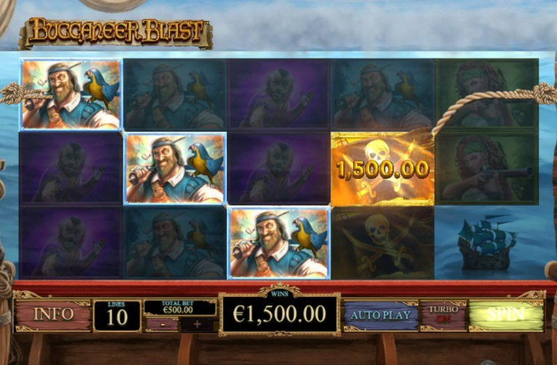 Buccaneer Blast :: A four of a kind win