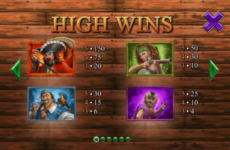 Buccaneer Blast :: Paytable - High Value Symbols