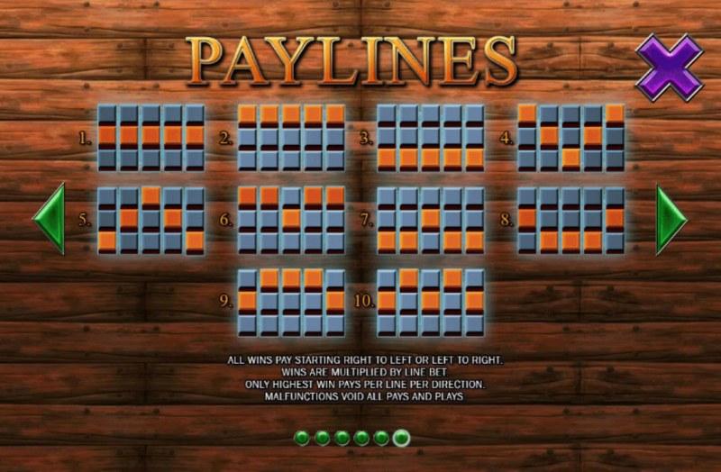 Buccaneer Blast :: Paylines 1-10