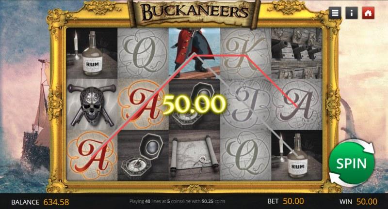 Buckaneers :: A three of a kind win