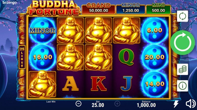 Buddha Fortune Hold and Win :: Main Game Board