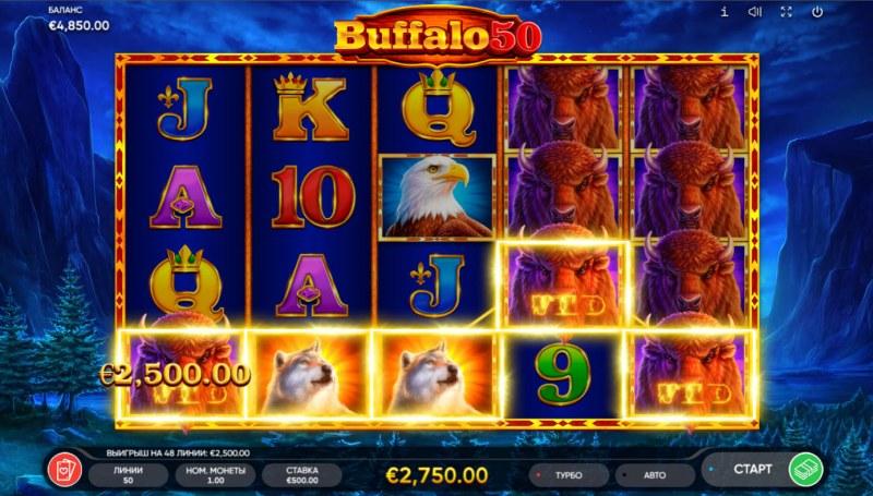 Buffalo 50 :: A five of a kind win