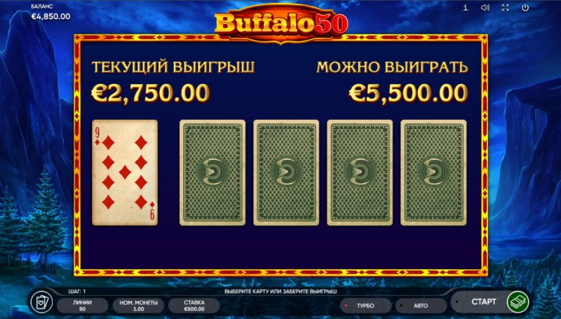 Buffalo 50 :: Red or Black Gamble Feature