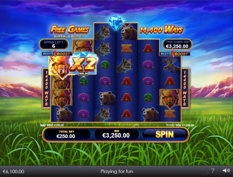 Buffalo Blitz II :: Free Spins Game Board