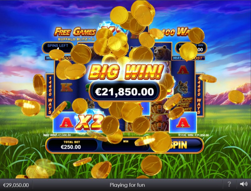 Buffalo Blitz II :: Big Win