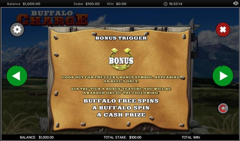 Buffalo Charge :: Bonus Game Rules