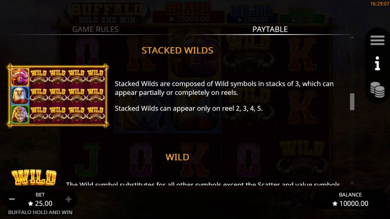 Buffalo Hold and Win :: Stacked Wilds