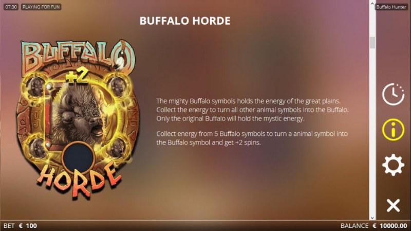 Buffalo Hunter :: Free Spins Rules
