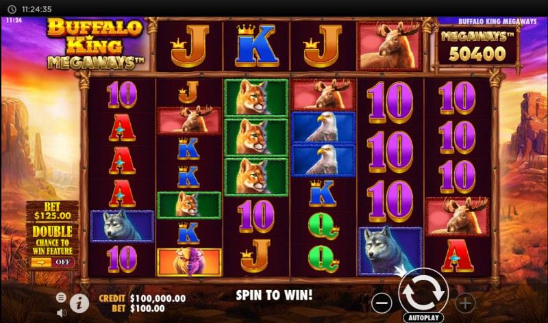 Buffalo King Megaways :: Main Game Board