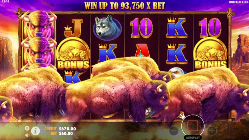 Buffalo King :: Scatter symbols triggers the free spins feature