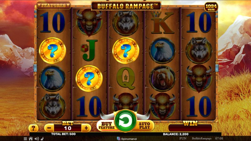 Buffalo Rampage :: Mystery feature triggered