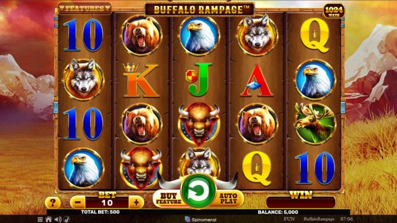 Buffalo Rampage :: Base Game Screen