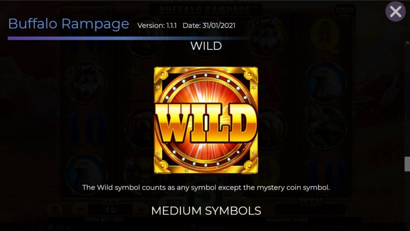 Buffalo Rampage :: Wild Symbol Rules