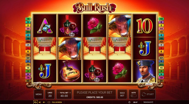 Bull Rush :: Base Game Screen