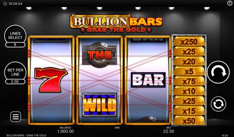 Bullion Bars Grab the Gold :: Main Game Board