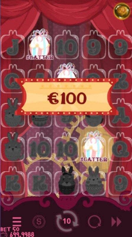 Bunny Circus :: Scatter symbols triggers the free spins feature