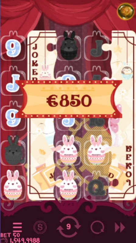 Bunny Circus :: Free Spins Game Board