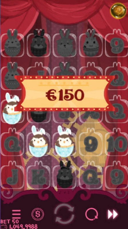 Bunny Circus :: A three of a kind win