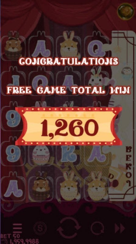 Bunny Circus :: Total free spins payout