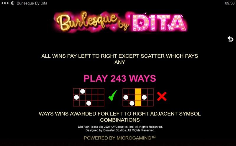 Burlesque by Dita :: 243 Ways to Win