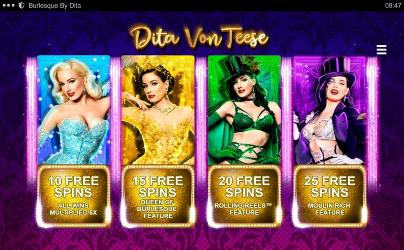 Burlesque by Dita :: Pick your free games feature