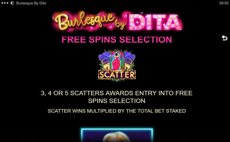 Burlesque by Dita :: Free Spin Feature Rules