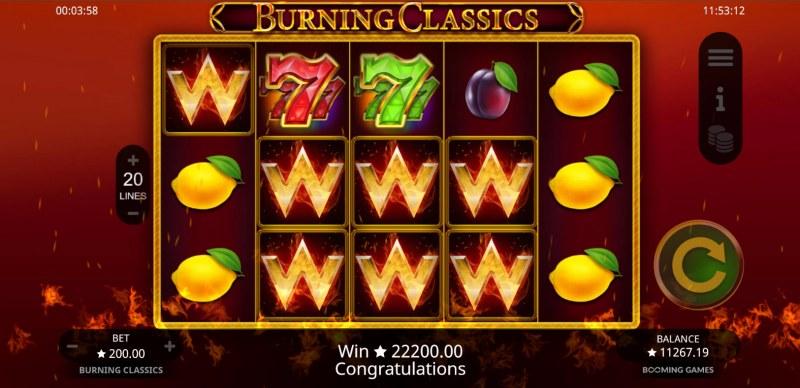 Burning Classics :: Multiple winning combinations lead to a big win