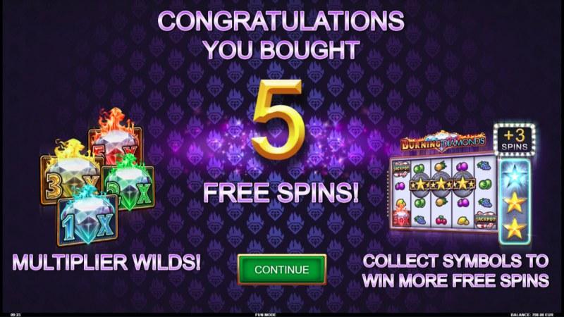 Burning Diamonds :: 5 Free Spins Awarded