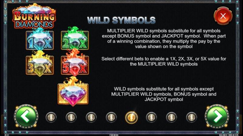 Burning Diamonds :: Wild Symbols Rules