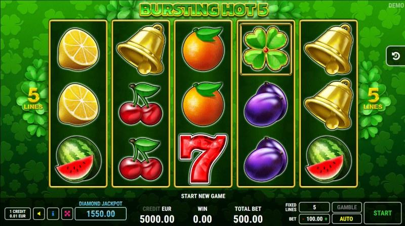 Bursting Hot 5 :: Base Game Screen