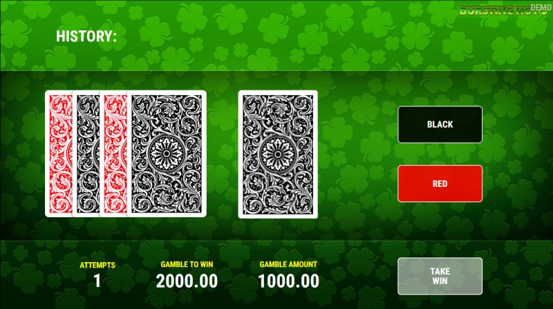 Bursting Hot 5 :: Red or Black Gamble Feature
