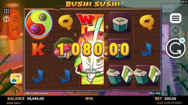 Bushi Sushi :: Game Pays In Both Directions