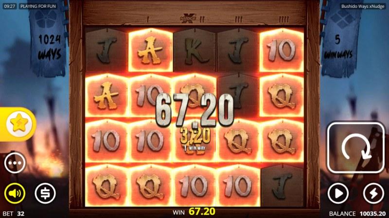 Bushido Ways xNudge :: Multiple winning combinations