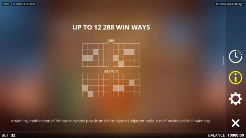 Bushido Ways xNudge :: 12288 Ways to Win
