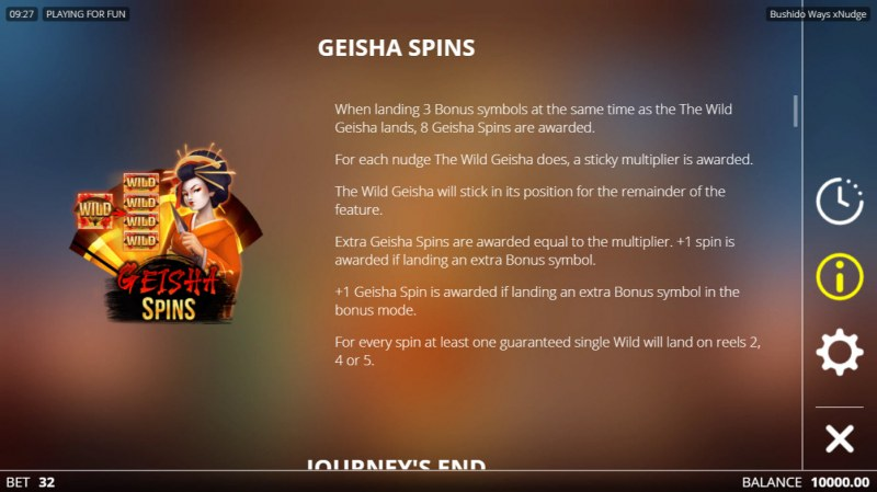 Bushido Ways xNudge :: Geisha Spins