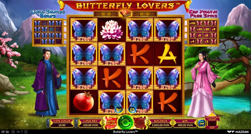 Butterfly Lovers :: Collect butterfly symbols and trigger bonus features