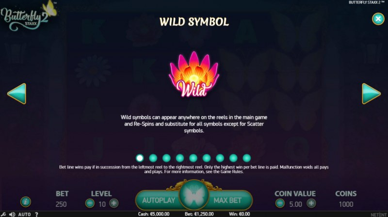Butterfly Staxx 2 :: Wild Symbols Rules