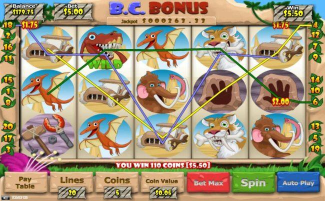 B. C. Bonus :: Multiple winning paylines
