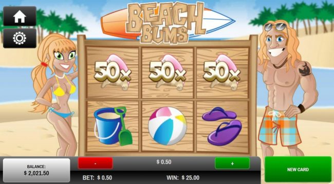 Play slots at Slots Capital: Slots Capital featuring the Video Slots Beach Bum's with a maximum payout of $25.00