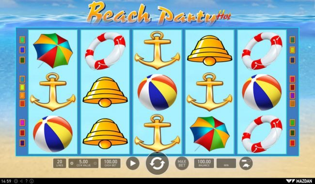 Diamond Club VIP featuring the Video Slots Beach Party Hot with a maximum payout of $25,000
