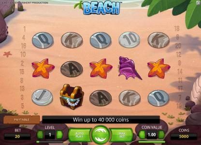 Sapphire Rooms featuring the Video Slots Beach with a maximum payout of $20,000