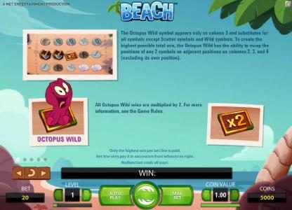 Play slots at Free Spins: Free Spins featuring the Video Slots Beach with a maximum payout of $20,000