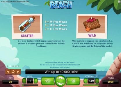 Beach :: scatter and wild symbol rules